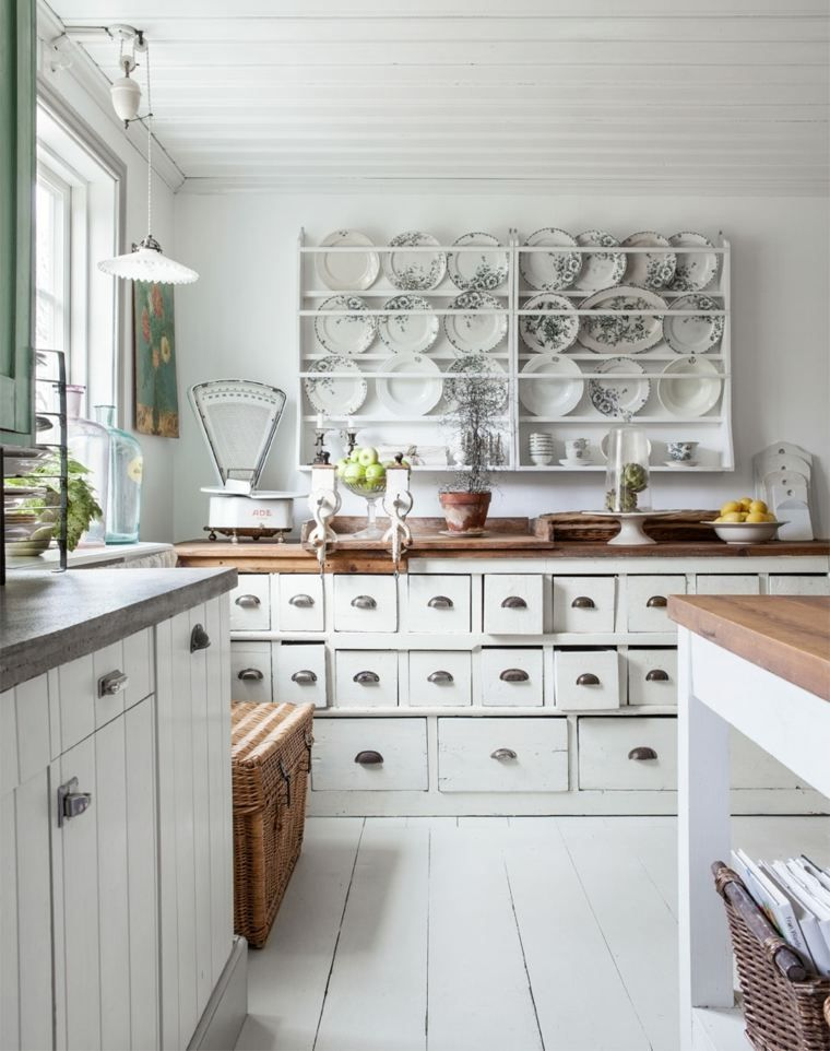 cuisine style campagne avec design shabby chic
