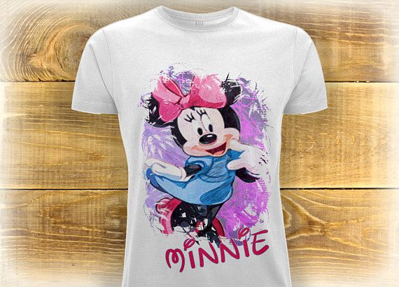 Adult Minnie Mouse Shirt, Minnie Mouse T Shirt, Personalized Disney Fan T-Shirt, Birthday Gift Idea For Women, Disney Lover Tee,