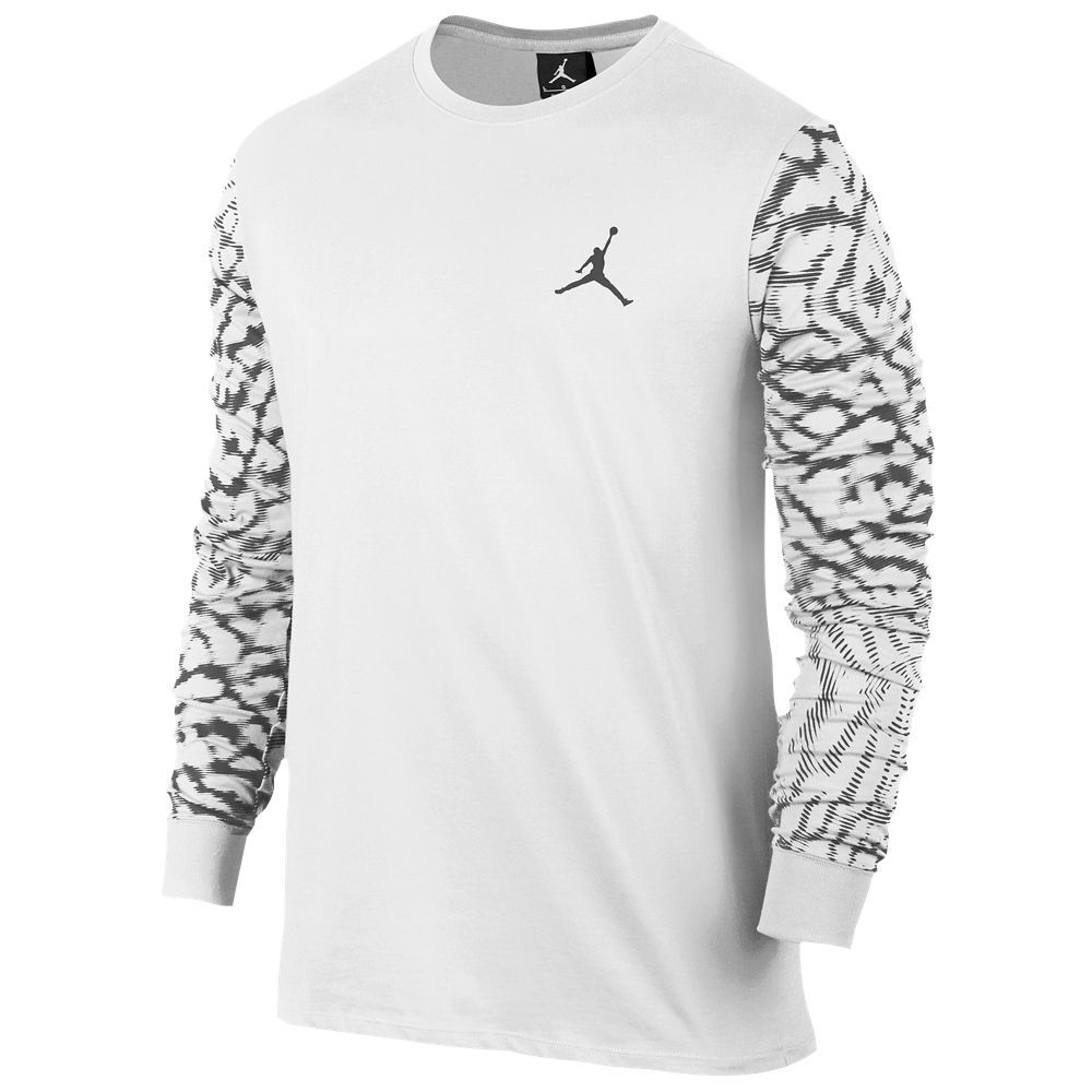 c3ef3a37b4dd New Style Jordan Cloud Ele Long Sleeve T-Shirt - White Dark Grey ...