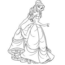 Top 25 Disney Princess Coloring Pages For Your Little Girl