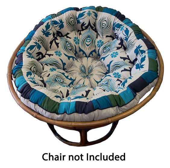 Best Amazon Com Cotton Craft Papasan Peacock Blue Overstuffed 400 x 300