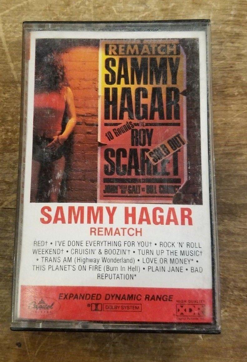 Sammy Hagar Rematch Cassette Sammy Hagar Rock N Roll Thankful