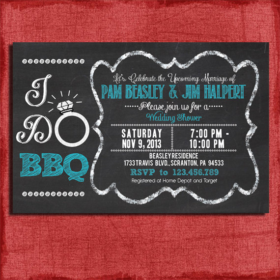 printable i do bbq barbecue couples coed wedding shower invitation