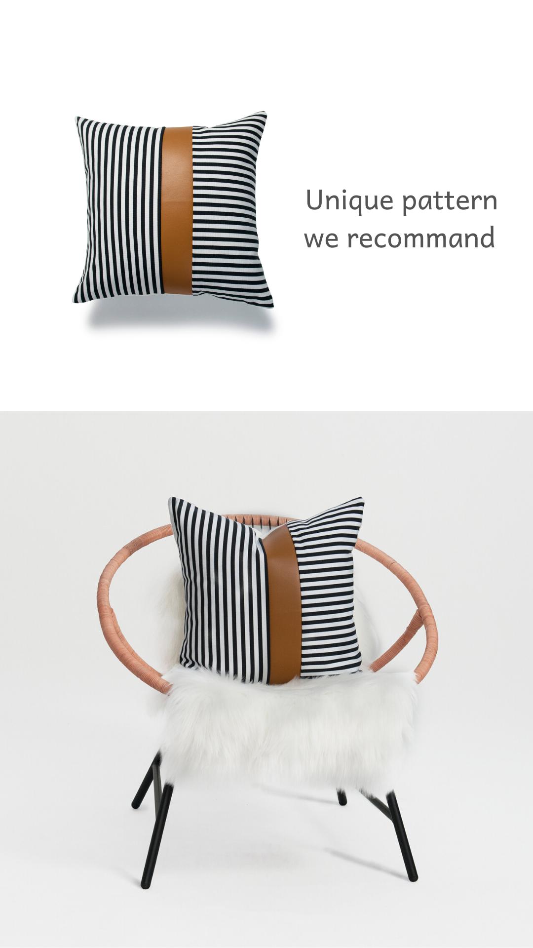 Hofdeco Faux Leather Pillow