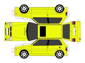 Sp Papel Modelismo Papercraft Fiat Uno Paper Crafts Fiat Uno Paper Models