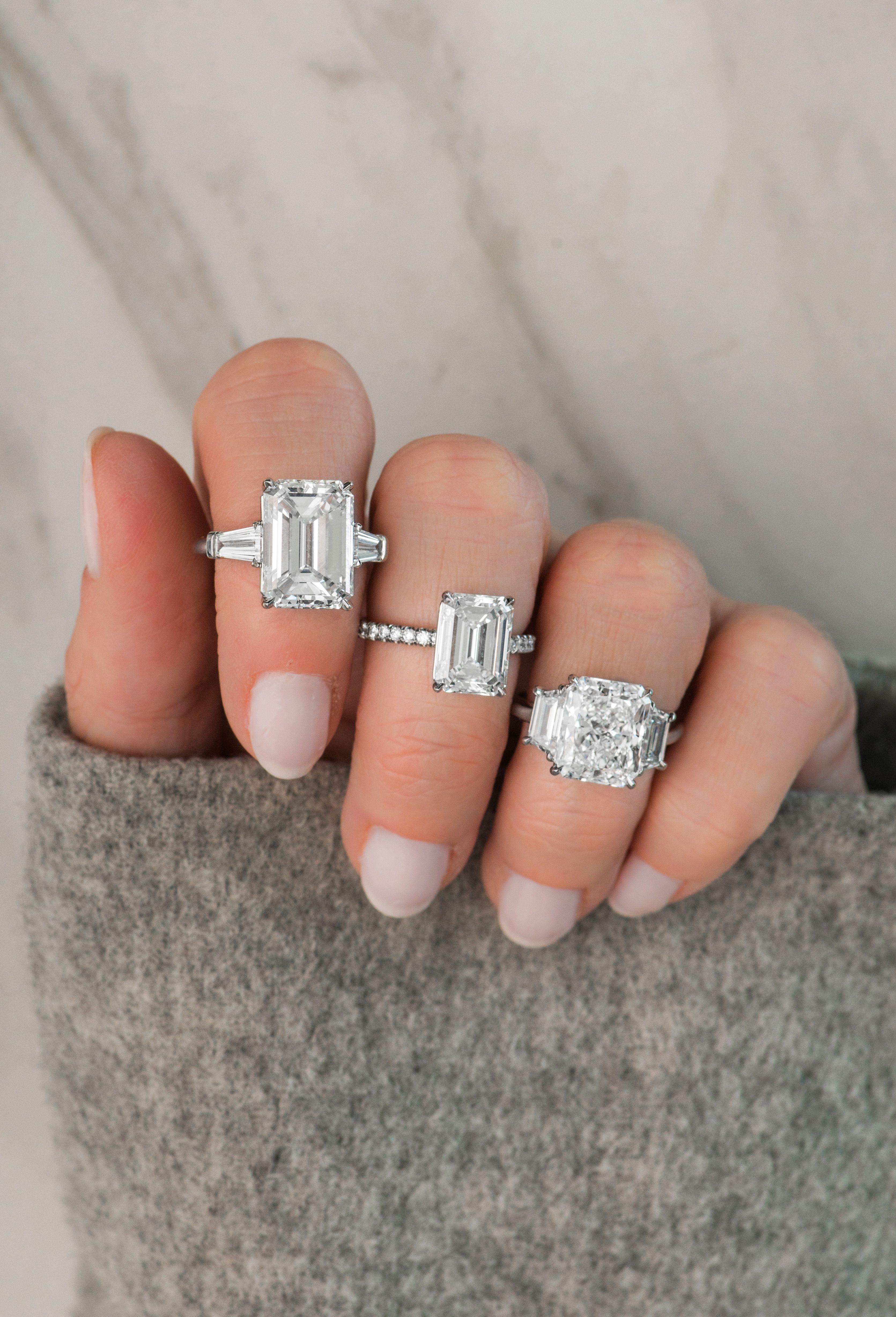 Looking For An Emeraldcut Diamond Engagement Ring We Have You Covered Find The Exact Style You Want No Diamond Jewelry Store Diamond Stores Jewelry Stores