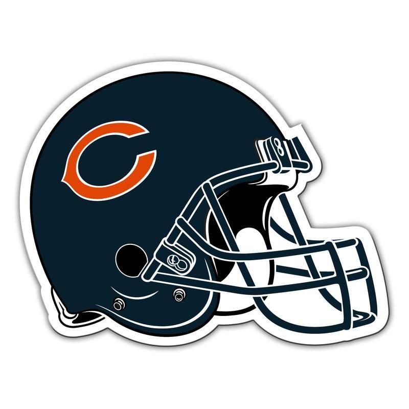 Chicago bears car style 12 inch helmet design