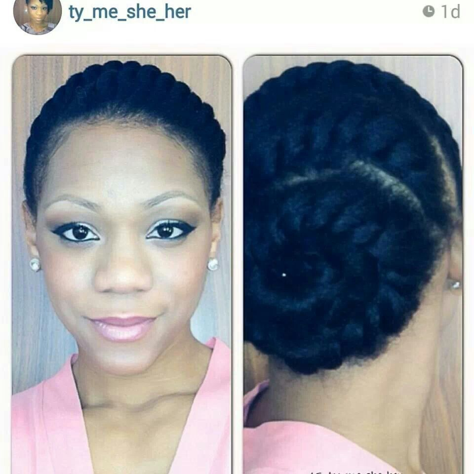 tynisha // 3c/4a natural hair style icon   protective styles