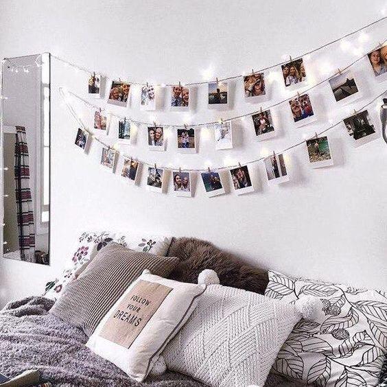 29 Ideas Para Collage De Fotos Para Decorar Tu Cuarto