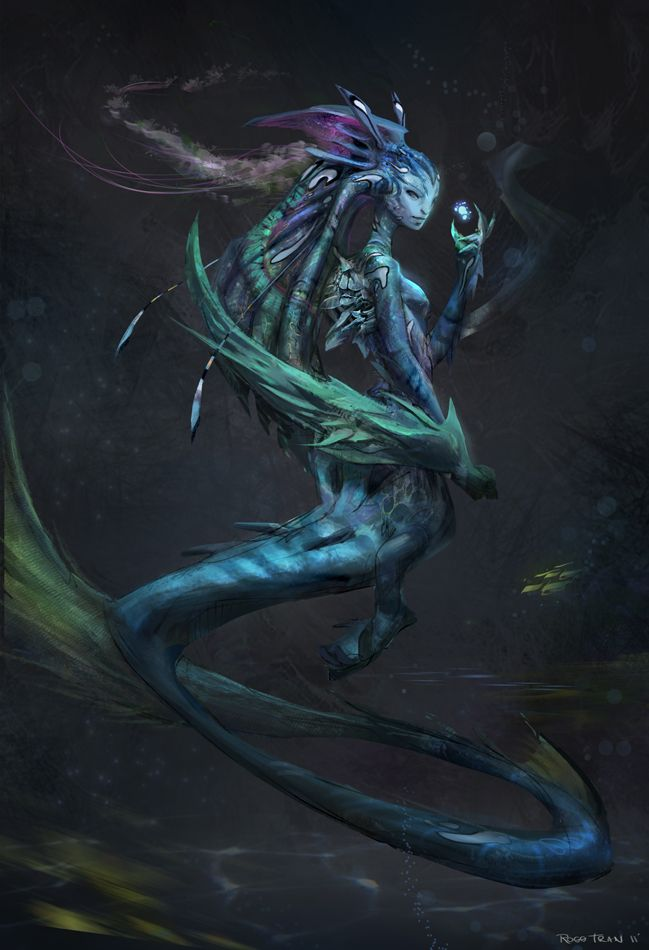 Dark Mermaid Fantasy Art
