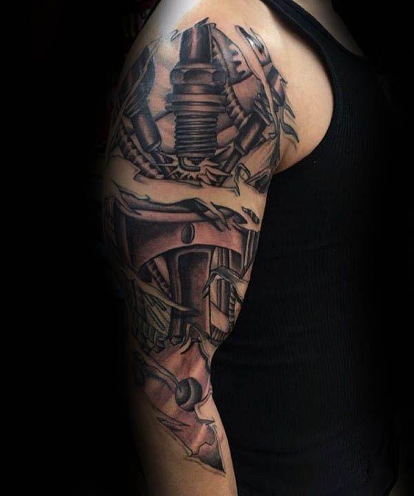 70 Spark Plug Tattoo Designs For Men - Cool Combustion Ink