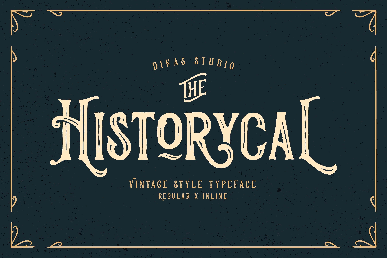 Historycal 2 Font Styles 23098 Display Font Bundles Vintage Fonts Font Styles Typeface