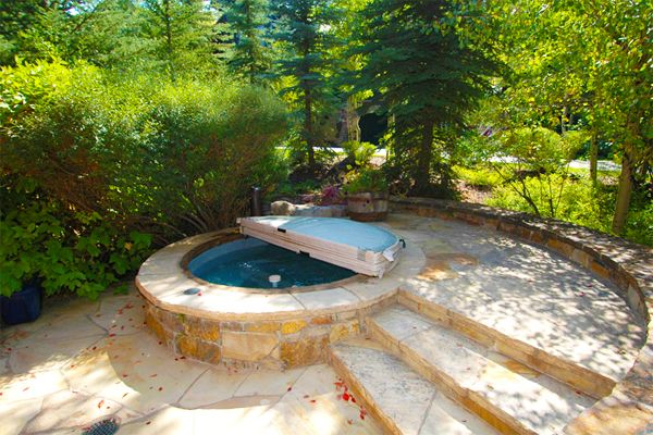 Multi Person Inground Spa With Cascading Waterfall And