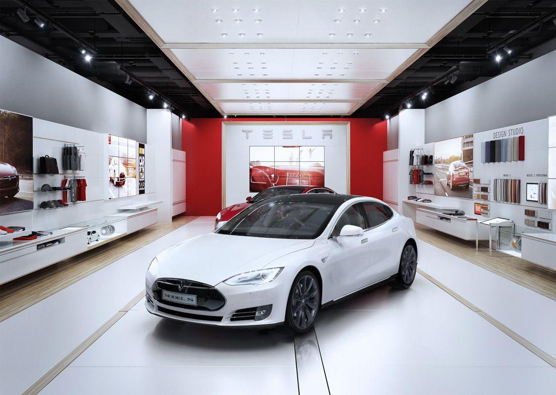 TESLA STORE DESIGN on Behance Design, Showroom design
