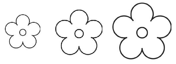 Cousas miñas: Patrones de flores para fieltro
