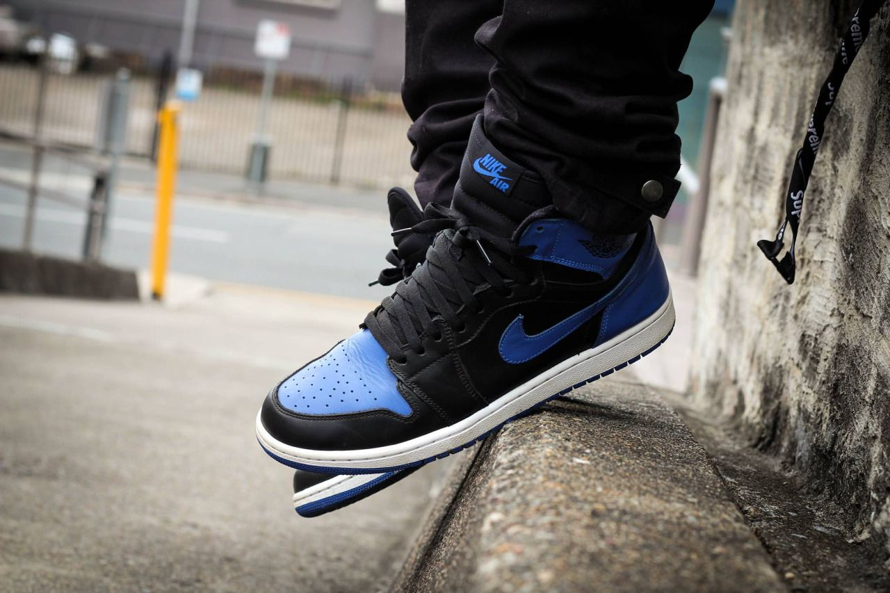 Jordans On Feet Royal Blue 1 S With Images Running Shoes
