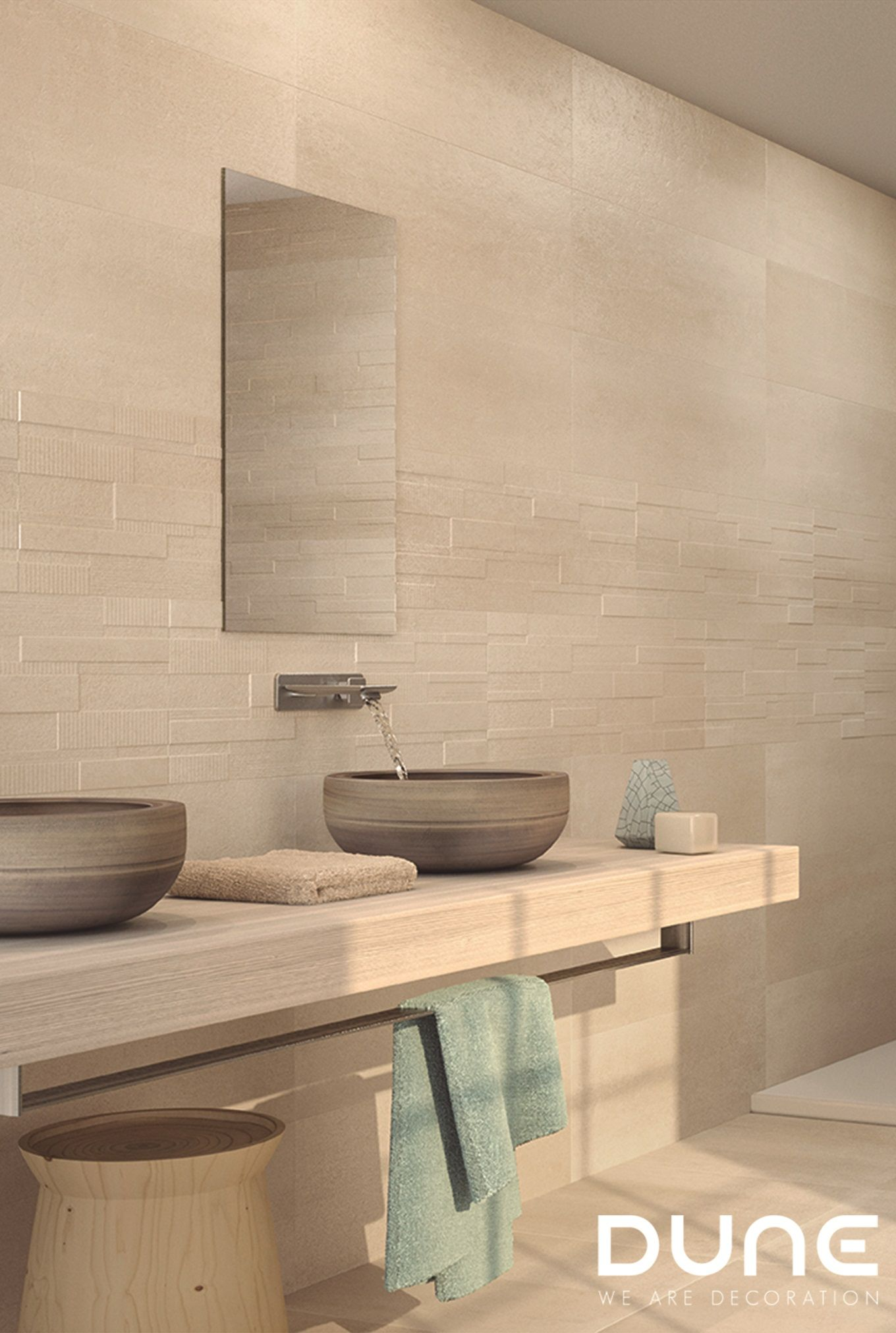 Hipster Brick Mist 29,5X90,1Cm  Rectified Tile With Modern Relief,