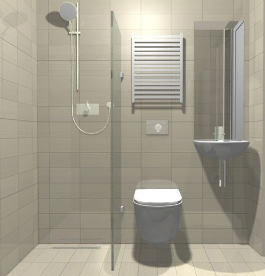 Small But Beautifully Formed Wet Room The Use Of Mirror And Glass Small Wet Room Small Shower Room Tiny Wet Room