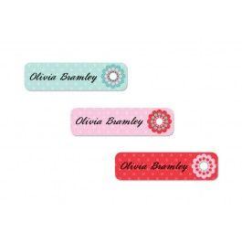 Emily Press Labels Custom Vintage Dots Slim Labels
