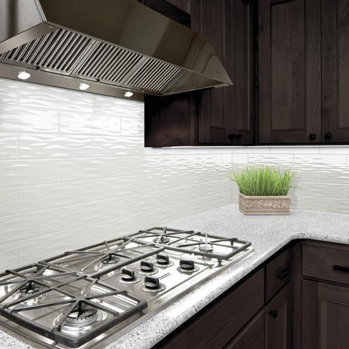 vivant gloss white ceramic wave wall 4