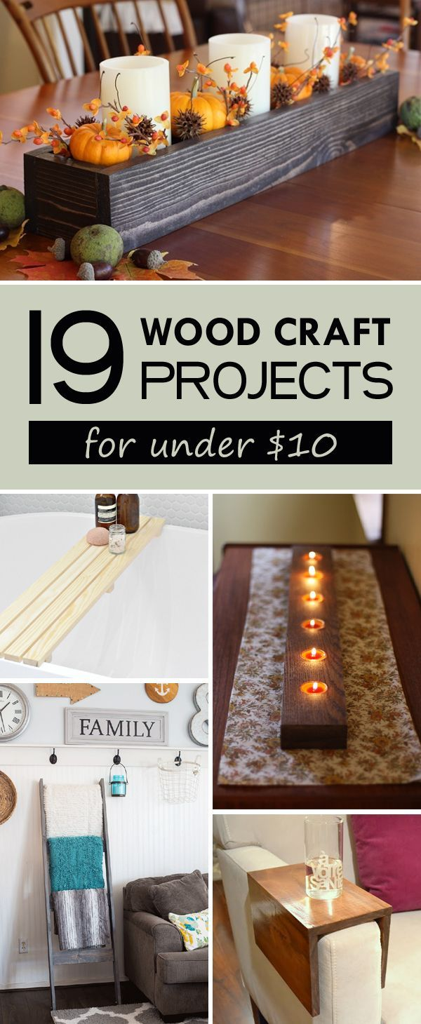 19 Easy Wood Craft Projects for Under $10   Wood projects ...