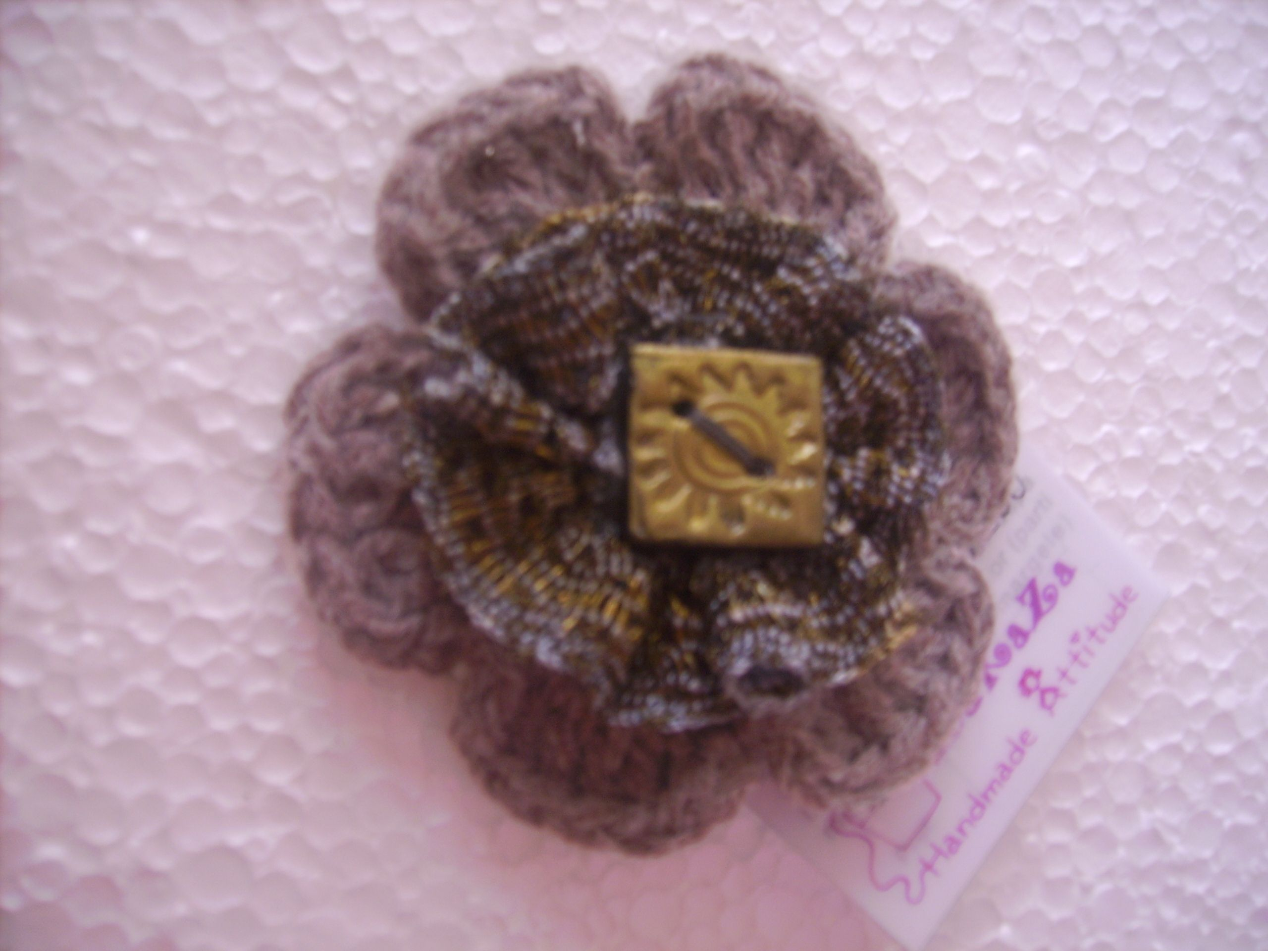 pin lotus crocheted flowers make flower crochet brooch cute a