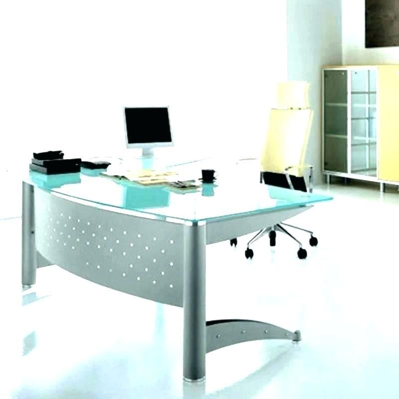 Glass Home Office Furniture Minimalist Glass Home Office Desks Uk