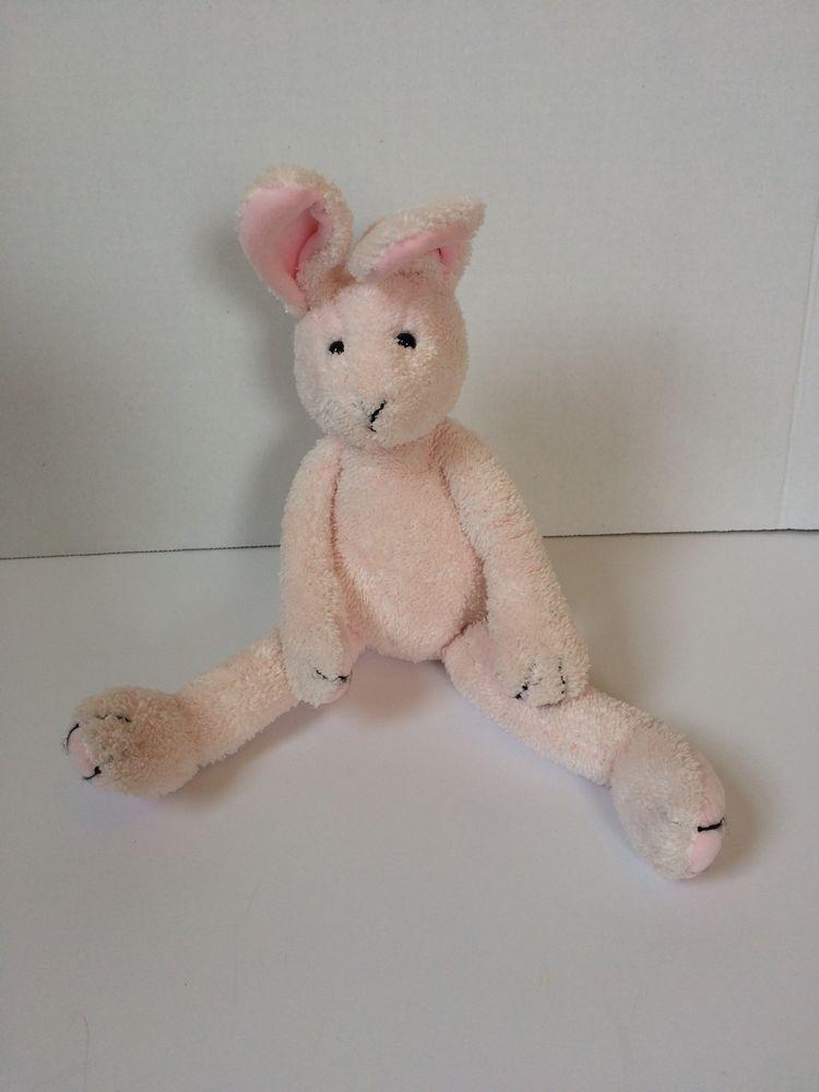 Pottery Barn Kids Pink Bunny Rabbit Bitsy Plush Stuffed Animal Pbk Floppy Lovey