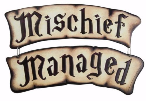 Harry-Potter-Marauders-Map-MISCHIEF-MANAGED-Tin-Sign-Set-Rare-New