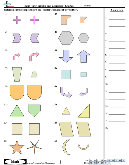 Congruent And Similar Shapes Worksheets Shapes Worksheets Quadrilaterals Worksheet Third Grade Geometry Worksheets