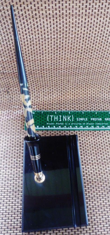 Vintage Estate W.A. Sheaffer desk top fountain speckled pen set  #Sheaffer