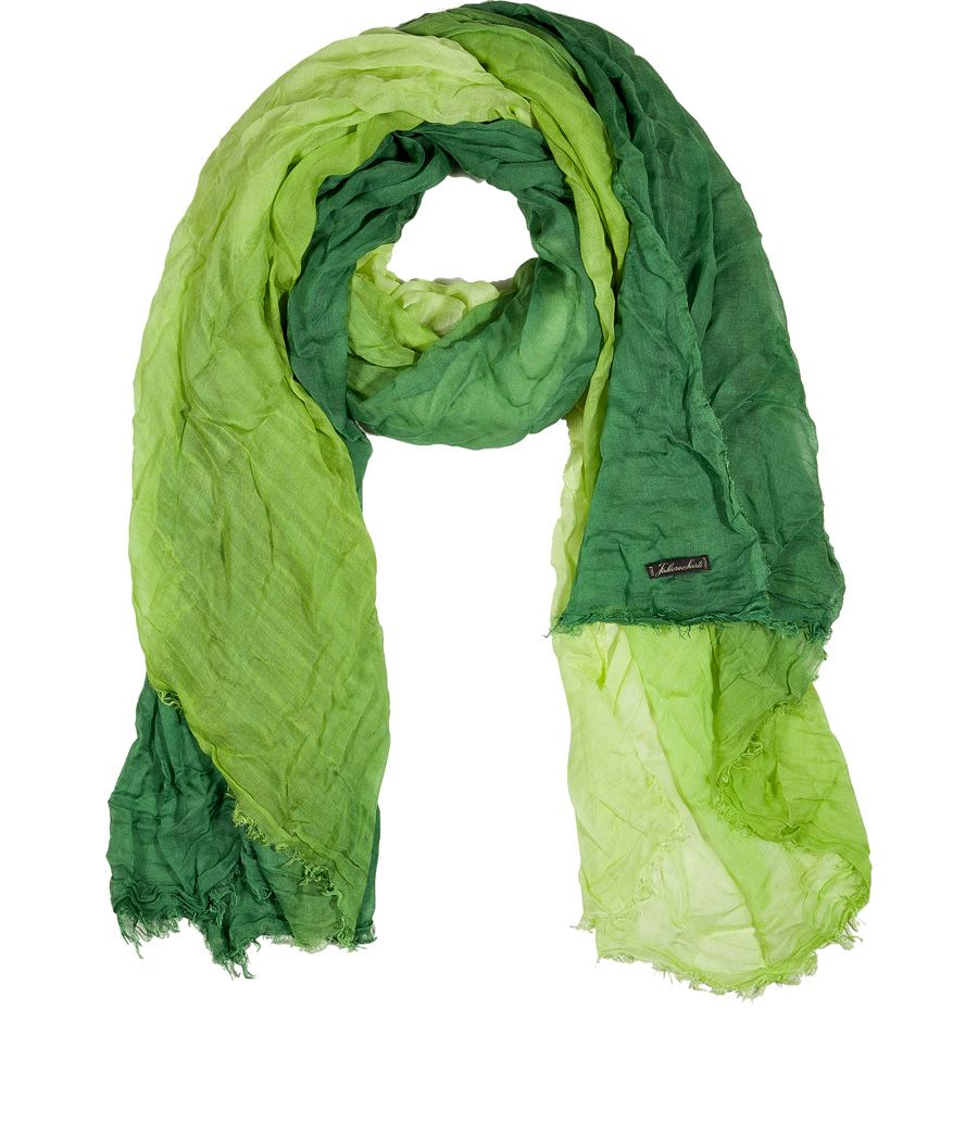 Green Color Gradient Scarf Ginerva