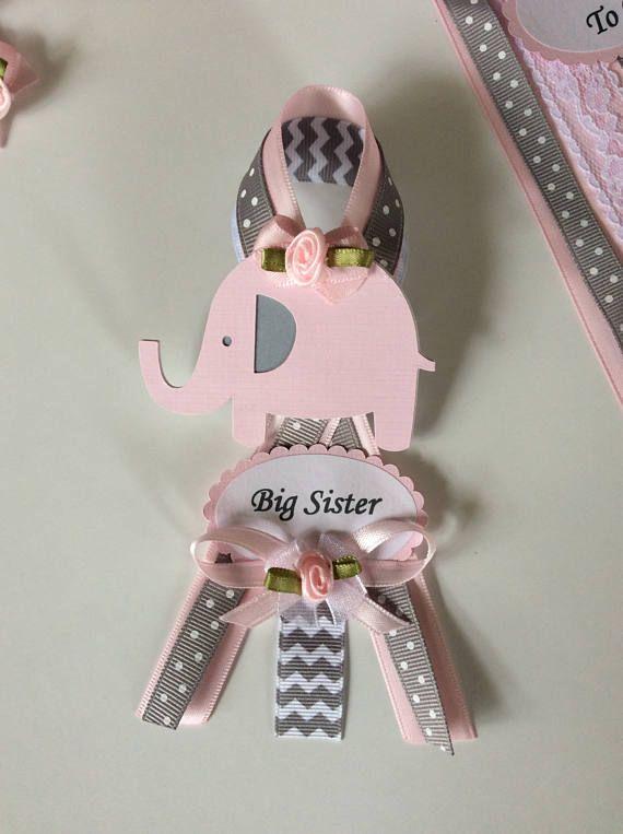 Big Sister Pin/Elephant Baby Shower Big Sister Pin/Elephant