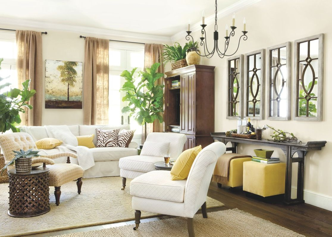 Tall Ceilings, Large Wall Space  How to Decorate  Living decor
