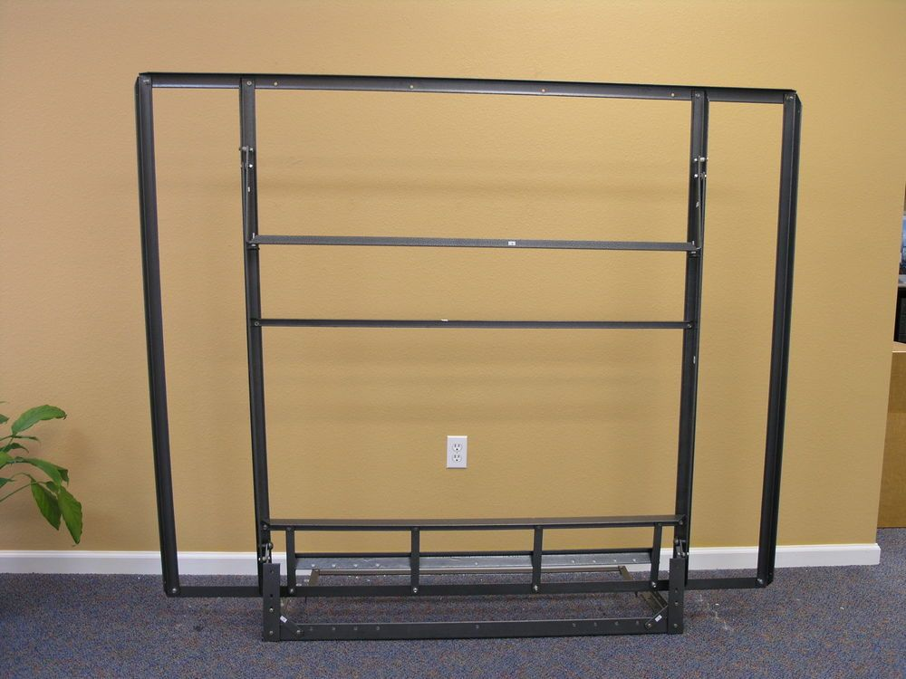 full size side folding murphy bed steel frame not wall mounted murphybedframecom