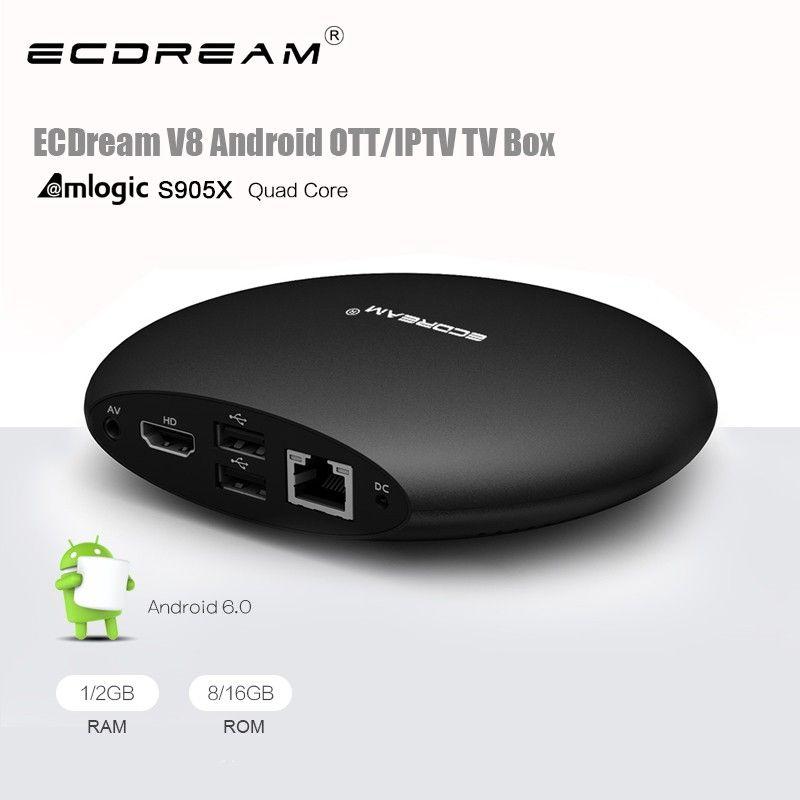 ECDREAM V8 S905X 2G 8G multicast iptv set top box Smart Ott Kodi