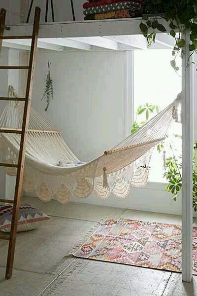bedroom hammock. Macrame Hammock  Urban Outfitters let s hang hammock under loft bed What a pretty Hammocks Swings Pinterest Room ideas