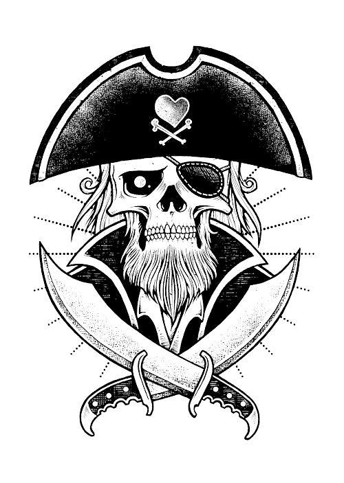 piraten totenkopf vorlage  ausmalbilder und vorlagen