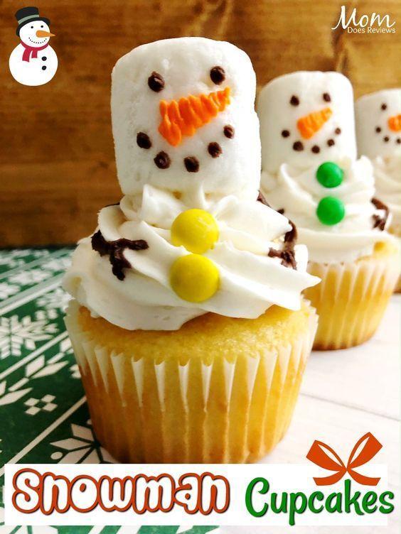 Christmas Desserts Pinterest.Easy Snowman Cupcakes Best Desserts Snowman Cupcakes
