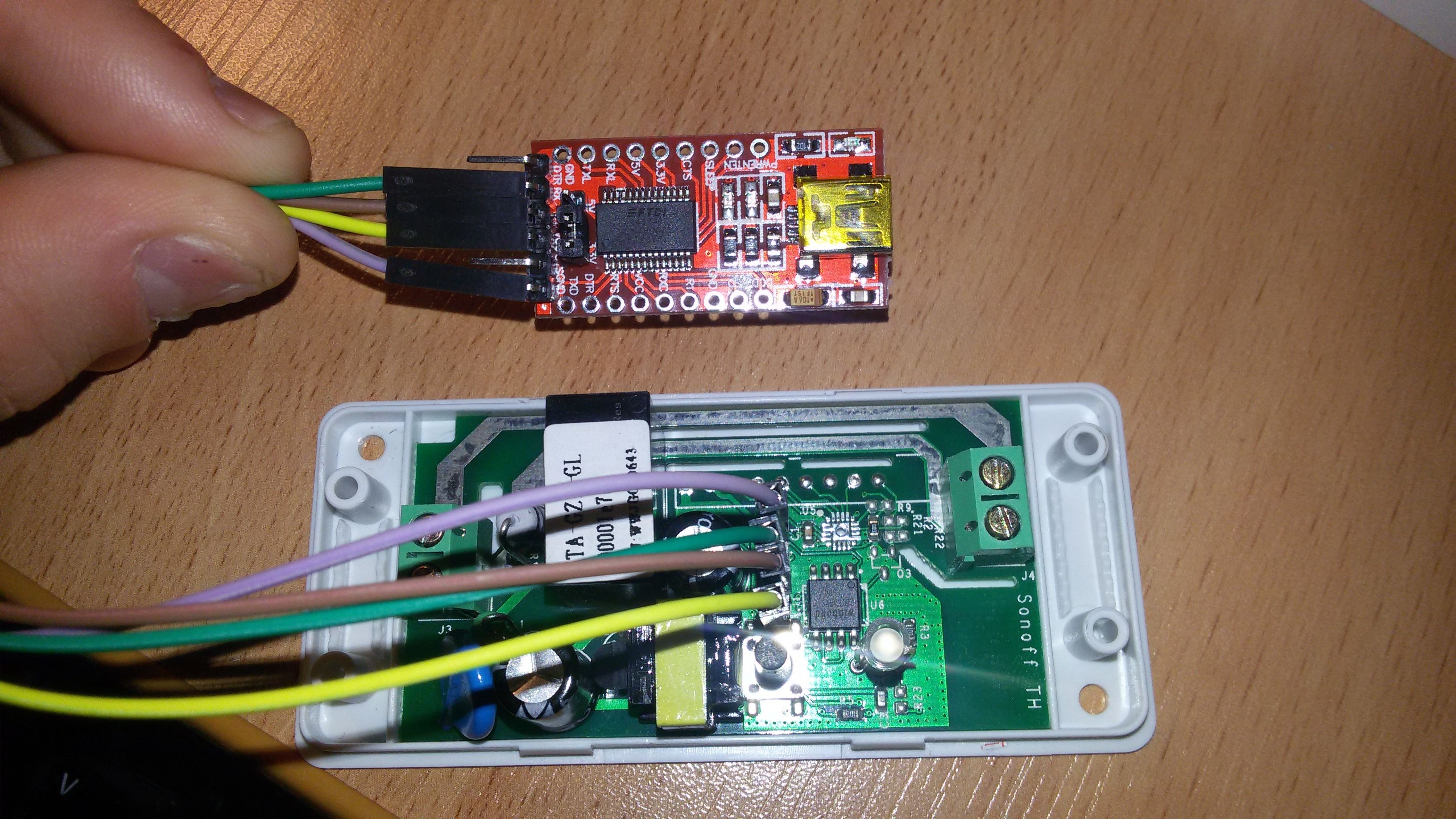 I conected Sonoff to Cayenne  [image] Solder pins to Sonoff