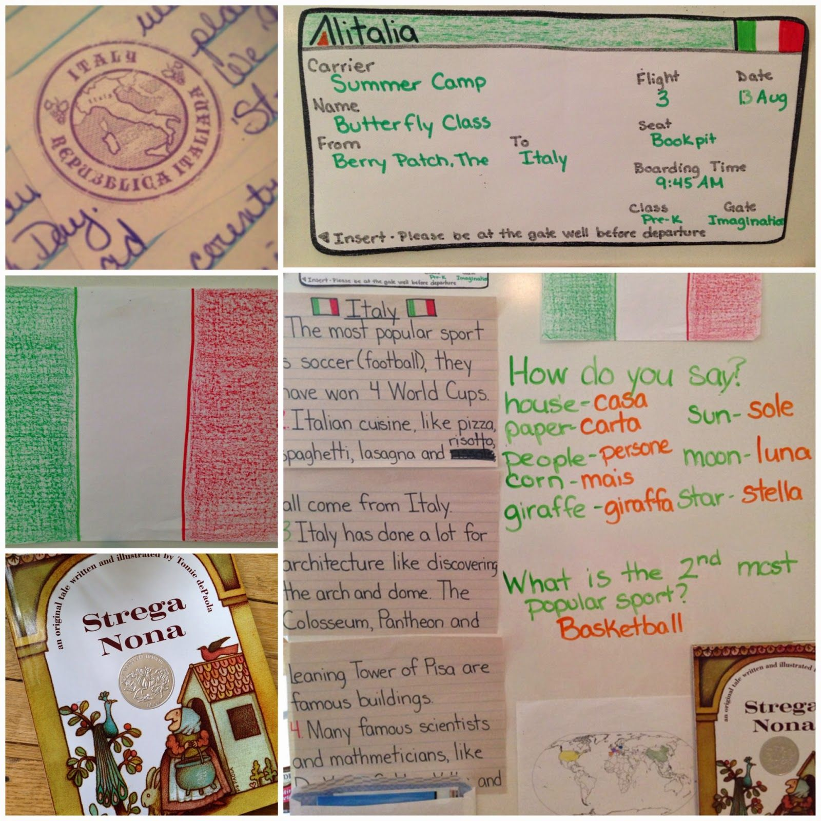 Theme And Activities About Italy For Preschool And Pre K