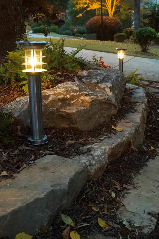 Stainless Steel Bollard Solar Lamp Gs 214 With Ez Anchor Solar Lights Garden Bollard Lighting Outdoor Solar Lights
