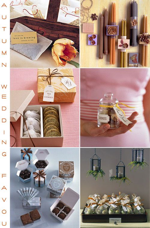 Give Your Guests Great Autumn Wedding Favoursfall Weding Favors