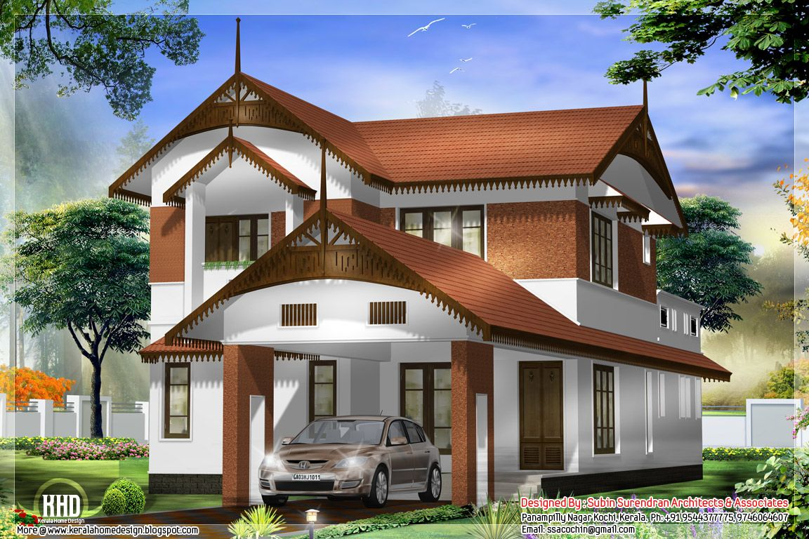 Kerala Style Home Designs See Deck Railing Http Awoodrailing Com
