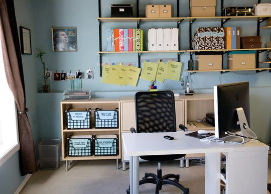 Nancy\u0027s Highly Efficient Office Space Office spaces, Organizing