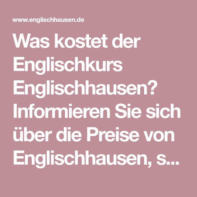 Was Kostet Englisch