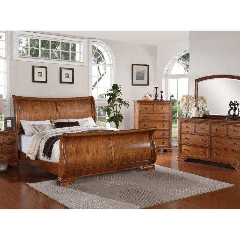 Georgetown Light Bedroom Bed Dresser Mirror Queen 58064