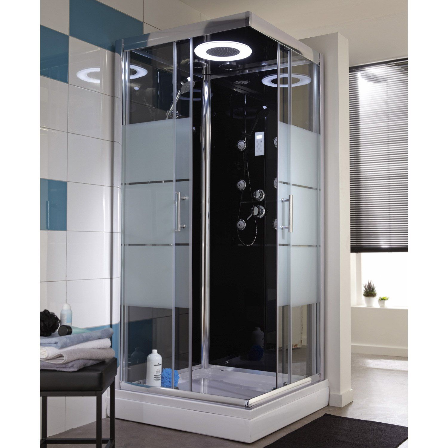 cabine de douche carr 90x90 cm optima2 noire en 2019 bonnes affaires pas cher cabine de. Black Bedroom Furniture Sets. Home Design Ideas