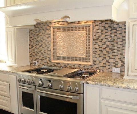 Decorative Backsplash Tile Arabella Plaque In Shaded Ivory Ssgi1377 From Soci  Kitchen