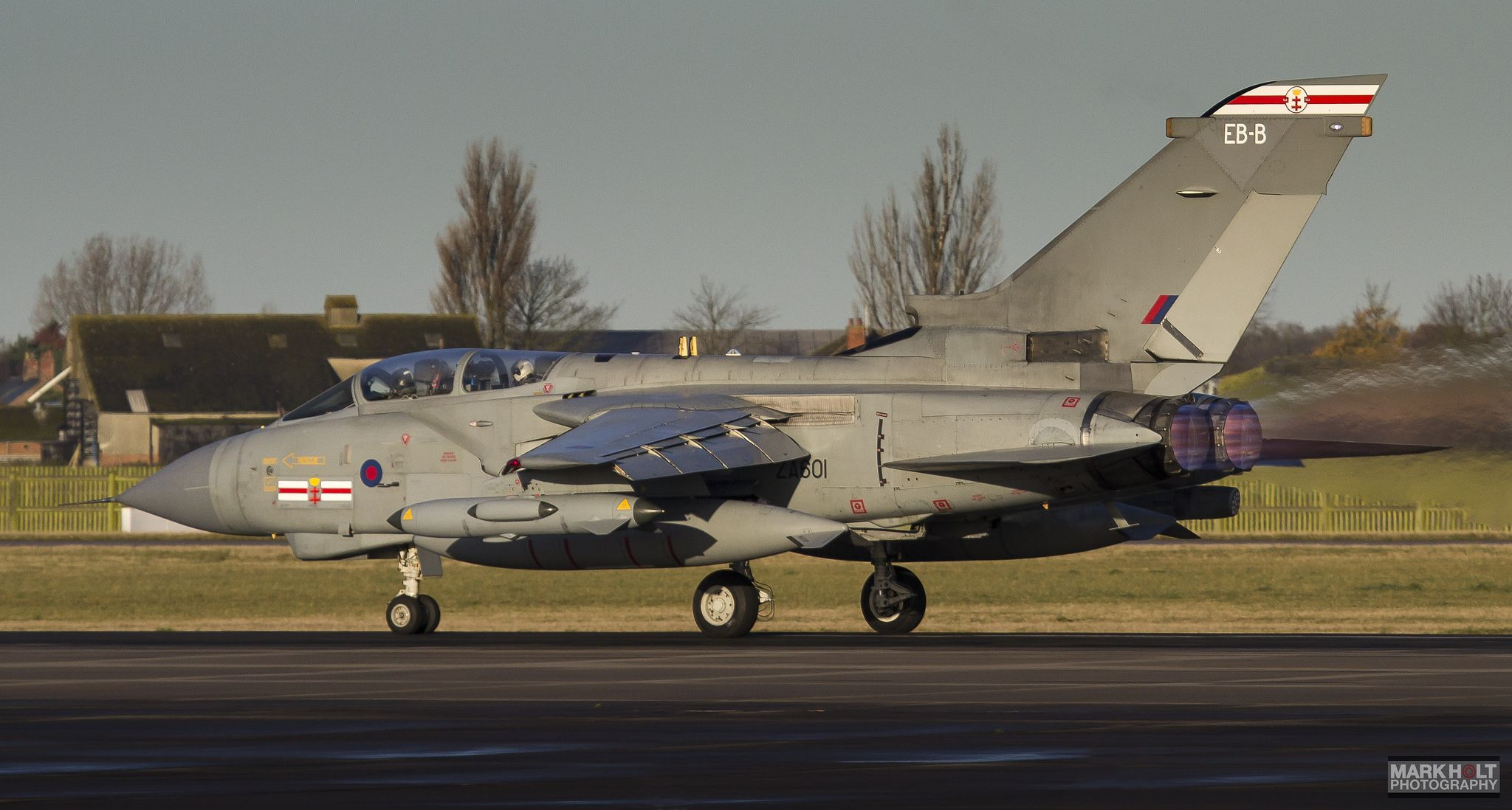https://flic.kr/p/NkjsKt | ZA601 | 23rd November 2011 - Panavia Tornado GR4 'ZA601' of 41 Squadron lights the candles for a morning sortie out of RAF Coningsby.